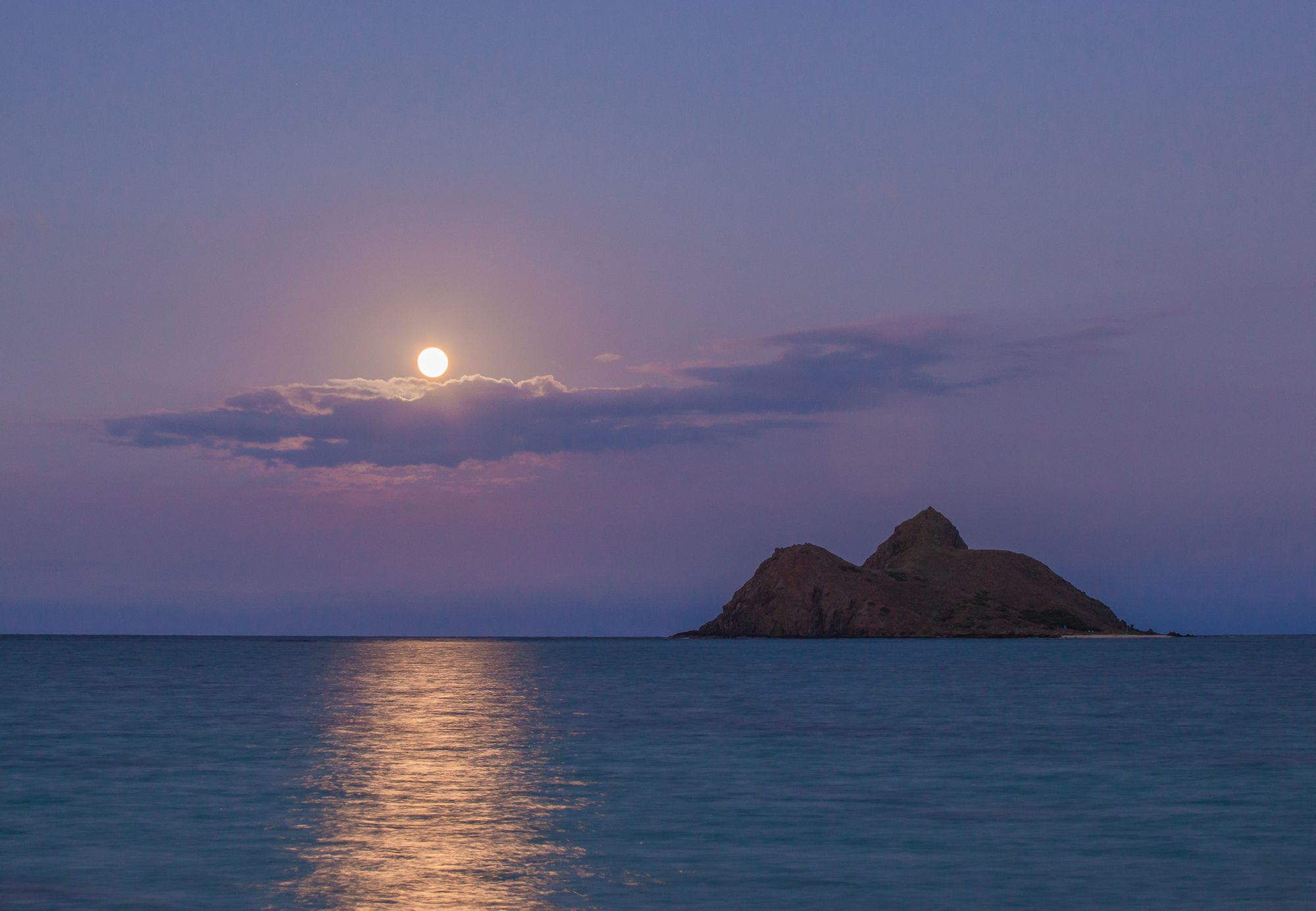 Moon from Lanikai Beach